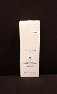 SkinCeuticals AOX + Eye Gel 0.5oz, 15mL, New in Box.