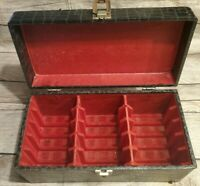 Black Red 8 Track Storage Case Holds 15 Tapes