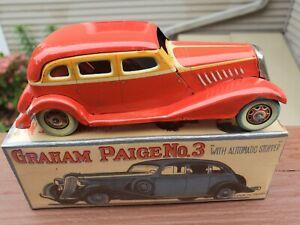 RARE 1930'S Japan Kosuge CK Wind Up Tin Car In Box Works BEAUTY