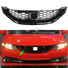 1x For Honda Civic SI 2013-2015 American version Black  Front Grill Grille Refit