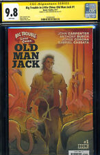 SS CGC 9.8 BIG TROUBLE IN LITTLE CHINA OLD MAN JACK 1  SIGNED BY JOHN CARPENTER