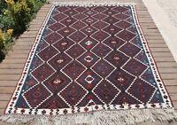 Turkish Kilim Rug 64''x91'' Handwoven Van Kilim 164x232cm Wool Vintage Area Rug