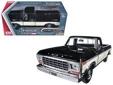 1979 Ford F-150 Pickup Black / Cream 1:24 Scale Diecast Model 79346Ac-Bkcrm