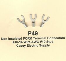 100 Non-Insulated FORK SPADE Terminal Connector #16-14 Wire Gauge #10 Stud MOLEX