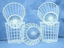 "Clear Plastic Grid Pot for Orchids 4 1/4"" Diameter - Made in Germany - Qty of 10"