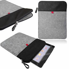 Felt Sleeve Case Cover Bag Vertical Felt Leather sleeve with ZIP for TABLETS