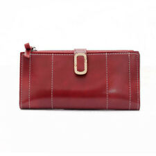 Simple Design Hasp Long Wallet For Ladies - Red (OFJ120601)