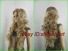 Haute qualité ! blonde longue Bouclé  santé cosplay Costume cheveux perruques