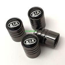Kia 4x cars tyre valve dust caps wheels trims compressor sealant inflator pump