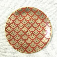 L'Objet Canape Dessert Plate Fortuny Canestrelli Red Gold Venice Italy Italian