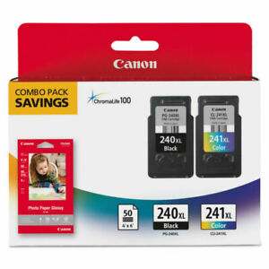 Canon 240XL Black & 241XL Color Ink Cartridge Combo Pack NEW