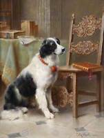PAINTING ANIMAL DOG PORTRAIT REICHERT FAMILY FAVOURITE 12x16'' ART PRINT LAH384B