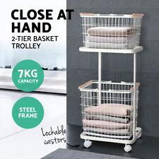 Wire Storage Shelf Metal Clothes Rack Shelves Laundry Basket Hamper Organiser