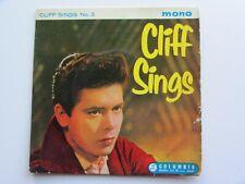 CLIFF RICHARD ORIGINAL 1959  UK   E P   CLIFF SINGS No 3