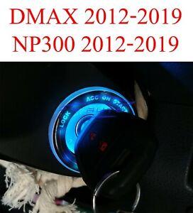 Ice Blue LED Ring Start Key Remote Fits Isuzu Dmax D-Max 2012 - 2019 MU-X 2014