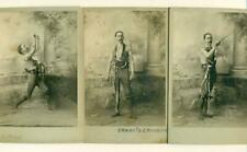LOT of 3, 1890 FRANCIS GORSCHE CIRCUS SIDESHOW HARNESSED SWORD SWALLOWER ? CAL.