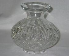 HURRICANE LAMP  CLEAR CRYSTAL CUT GLASS GLOBE ONLY ~ BEAUTIFUL!