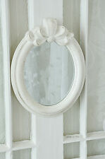 Clayre & Eef Spiegel Wandspiegel Schleife Weiß Shabby Chic Vintage Landhaus