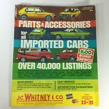 VTG 1976 Parts & Accessories Imported Cars J.C. Whitney and Co. Catalog