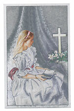 "Dufex Foil Picture Print - Girl with Bible by Cross - size 3 x 4 3/4"" - 3 Pack"