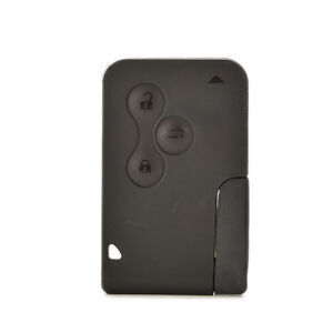 Replacement 3 button Key Card Shell Case + Blade For Renault Megane Scenic  fw