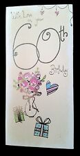"""E40) lot de 26 Cartes """"with love on your 60 th Birthday"""""""