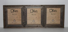 "8x10-2.5"" Wide Reclaimed Rustic Barn Wood Collage Photo Frame Holds 3 Photos"