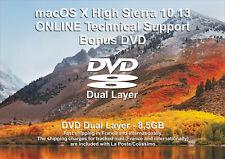 macOS X High Sierra 10.13 - ONLINE Technical Support - Bonus DVD DL