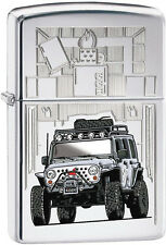 Zippo Car Jeep Wrangler, High Polish Chrome WindProof Lighter 28508 NEW L@@K