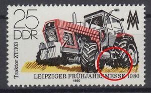 DDR 2499 f19 postfrisch ** Plattenfehler nach Schrage s. Beschreibung