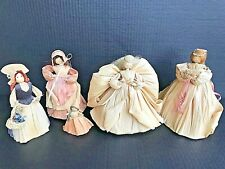 "Vintage Cornhusk Doll Collection 5 Handmade Dolls 7"" & 3"" Ships FREE"