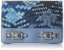 Nine West NWT $49 Gleam Team Clutch Large Wallet Blue Crossbody Convertable
