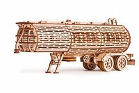 Wood Trick Tank Trailer For Big Rig Mechanical Wooden 3D Puzzle Model Assembly
