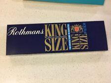 King Size ROTHMANS Vintage CARDBOARD CIGARETTE ADVERTISING