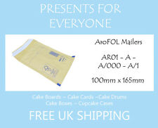 50 x Size A / AR01 Gold Kraft Padded Envelopes - FREE 1st CLASS UK SHIPPING