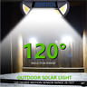 102/122 LED Solar Powered PIR Motion Sensor Wall Light Outdoor Security Lamp NEW