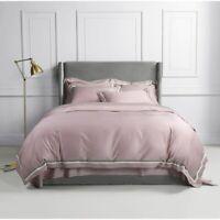 Egyptian Cotton Duvet Cover Set 4Pcs Soft Bedding Set Comforter Cover Bed Sheet