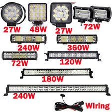 LED Work Light Bar Spot Flood Roof Lights Driving Lamp Offroad Car SUV ATV 360W