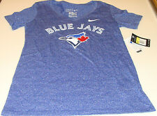 Toronto Blue Jays MLB Baseball XL Ladies Women V Neck Marled Mid T Shirt Top