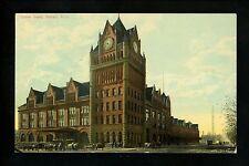 Train Station postcard Michigan MI, Detroit, Union Depot Vintage