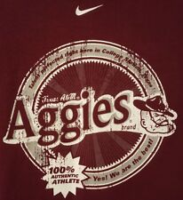 Vintage Texas A&M PRE-OWNED Aggies 100%  Authentic Athlete NIKE Size XL T-Shirt