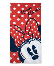 BRAND NEW Disney Minnie Mouse Red/White/Blue Beach Towel