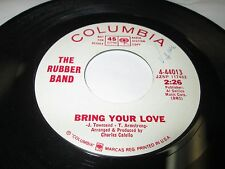 "RUBBER BAND Bring Your Love 45 7"" NM US RARE PROMO POWER POP ROCK LISTEN"