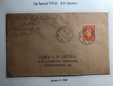1938 Up Special England Cover Traveling Post Office To Edinburgh