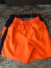 Under Armour Lightweight Shorts Orange Heat Gear Mens Size Small