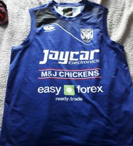 Canterbury bankstown bulldogs Nrl rugby league training shirt vest XL