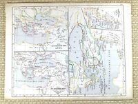 1867 Antik Deutsche Landkarte Der Ottoman Reich Asien Minor Türkei Greece Cyprus
