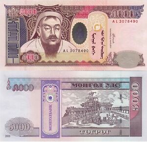 Mongolia 5000 Tugrik (2003) - p68 UNC
