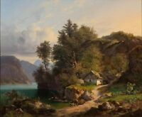 "perfect oil painting handpainted on canvas""Austrian Landscape""N10064"