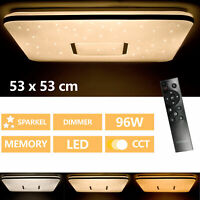 Lampada Da Soffitto LED Soggiorno con Telecomando 96W Plafoniera Dimmerabile Cct